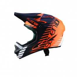 KASK ROWEROWY DH ENDURO 7iDP M1 BLK/WH/ORG YOUTH M