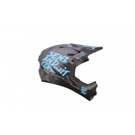 KASK ROWEROWY DH ENDURO 7iDP M1 GREY BLACK BLUE XL